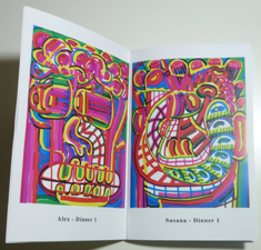 Alberto Aguilar - A Personal Dinner Invitation - zine page