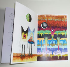 Dennis Pomales - Drawing Down the Moon - zine pages